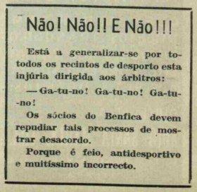 Recortes | 1951 - Jornal O Benfica