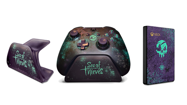 Xbox Unveils Sea of Thieves Seagate Hard Drive, Custom Controller Stand