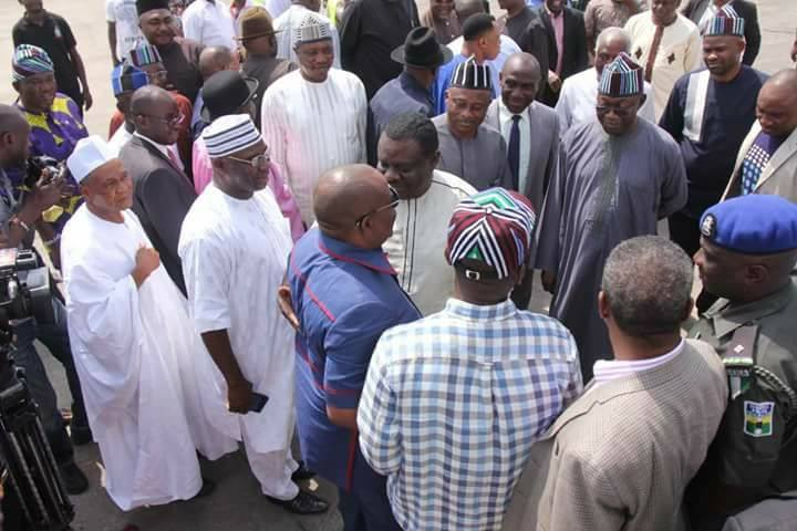 Rivers State Governor Nyesom Wike has paid a solidarity visit  to Benue State's Governor Ortom following the mayhem unleashed by Fulani herdsmen.