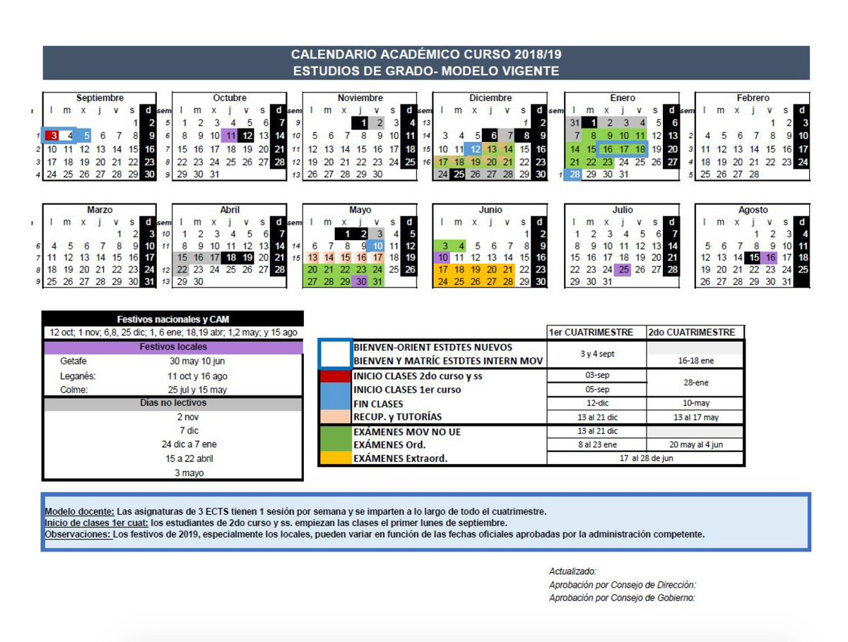 Calendario Uc3m.Delegacion Hcd Uc3m On Twitter Importante La Universidad