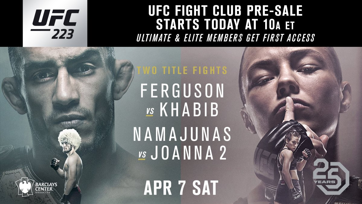 Back in Brooklyn. ��  The UFC Fight Club presale starts NOW: https://t.co/2sgW0vtES7 https://t.co/OPMIBc1ZQO