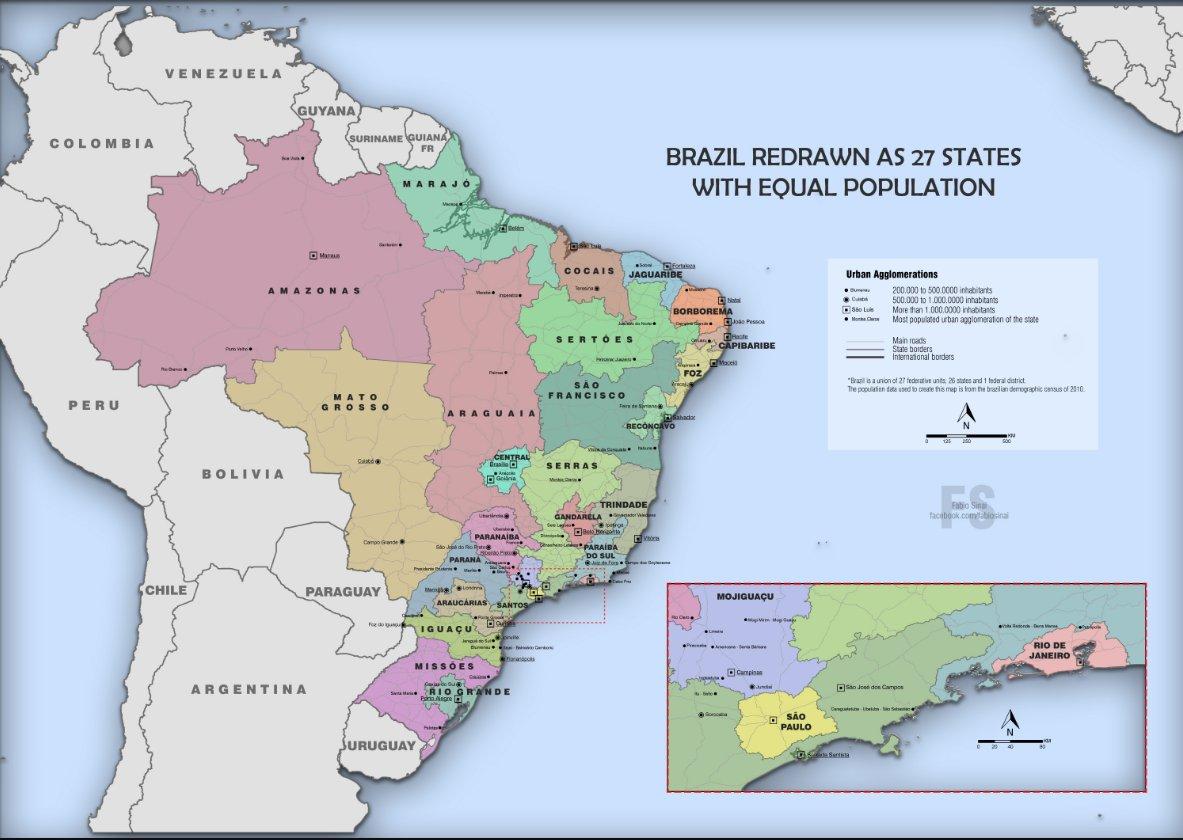 David Biller on Twitter This Brazil map from a reddit user redrew