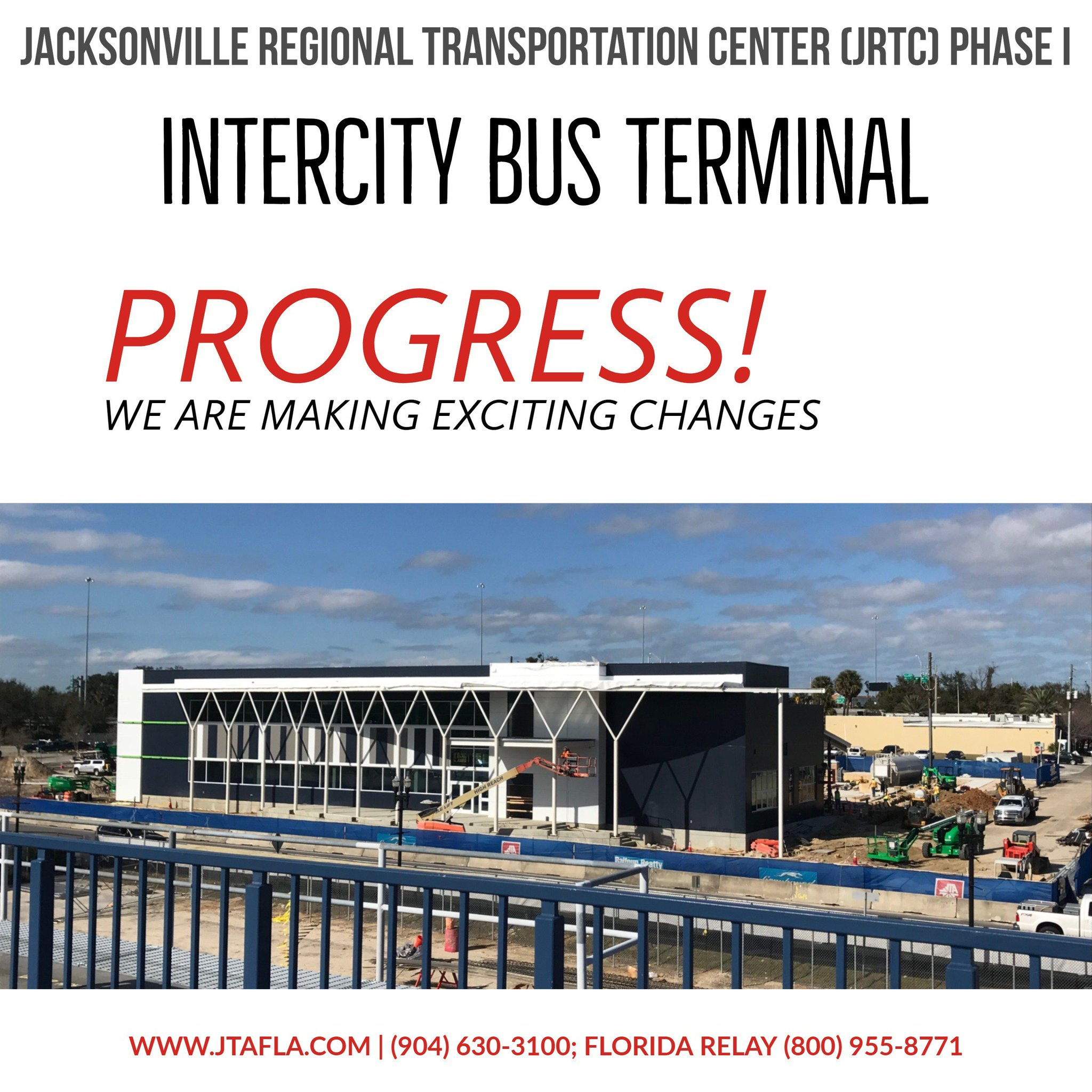 Jtafla On Twitter Progress Phase I Of Jtas Jacksonville Regional Relay Terminal Transportation Center Will Be Completed In March The Intercity Bus