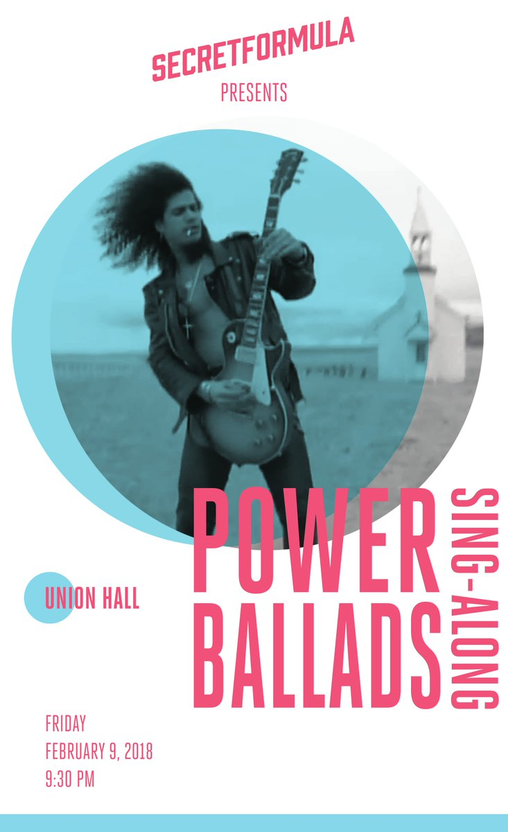Power Ballads Sing Along Whatever Mood Valentines Day Puts You In Theres A 80s Or 90s Ballad For It Presented By SecretFormulaNY