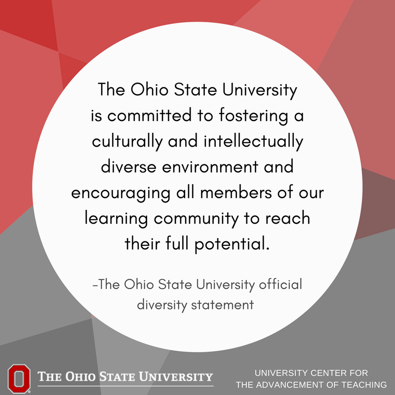 At UCAT, we strive to provide resources & support to foster inclusive learning envs. for the @OhioState community. Learn more about university policy on safety, Title XI and sexual harassment, disabilities services, and mental health: https://t.co/QO62lGdY6p #inclusiveteaching