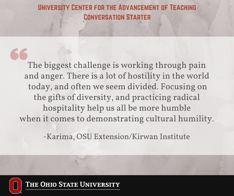 What challenges do you face promoting intercultural awareness through your teaching? #UCATconvo