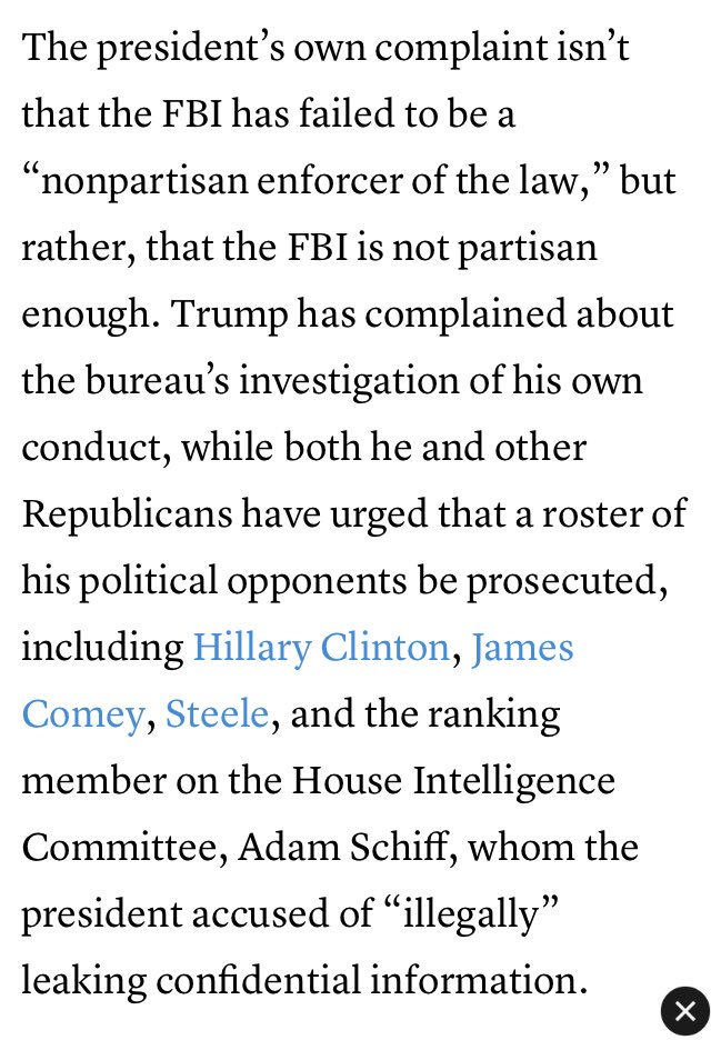 Adam Serwer  Adamserwer  Twitter And Its Working Httpswwwtheatlanticcompoliticsarchivethetrumpingofthefbi  Pictwittercomcsowcni
