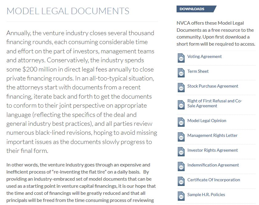 NVCA On Twitter NVCA Is Pleased To Unveil Our Updated Model Legal - Find legal documents