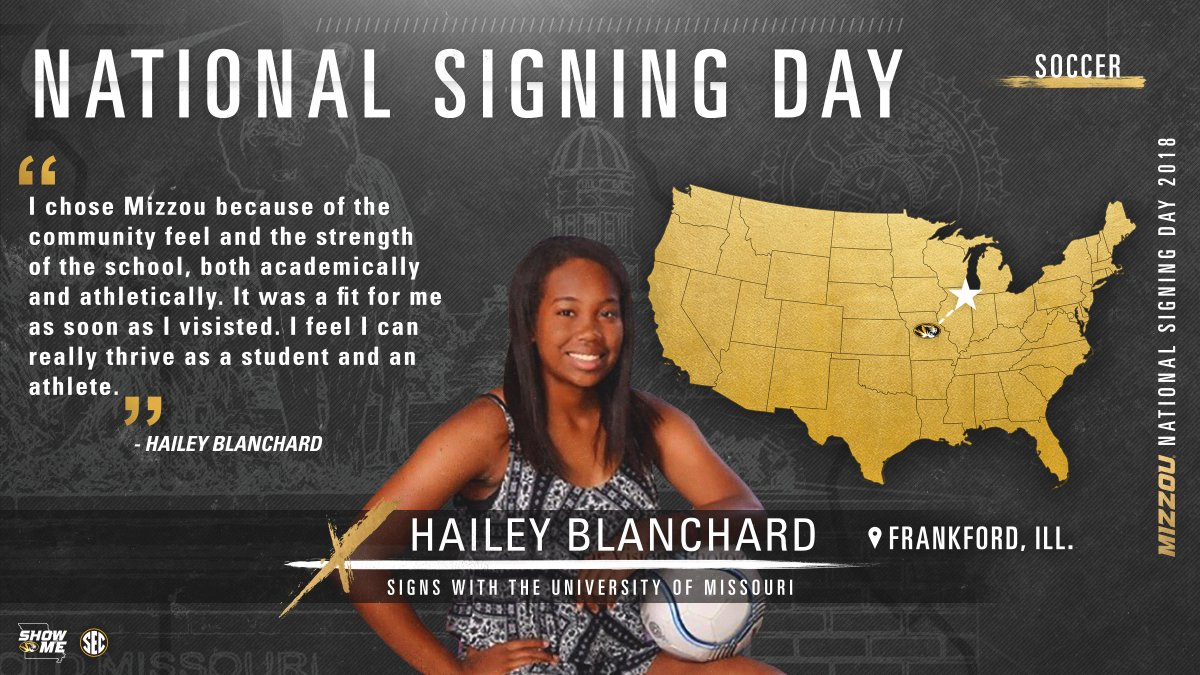Welcome to the Mizzou Soccer family, Hai...