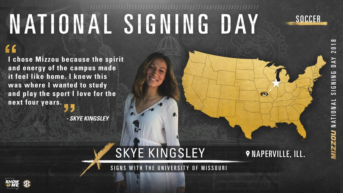 Welcome to the Mizzou Soccer family, Sky...