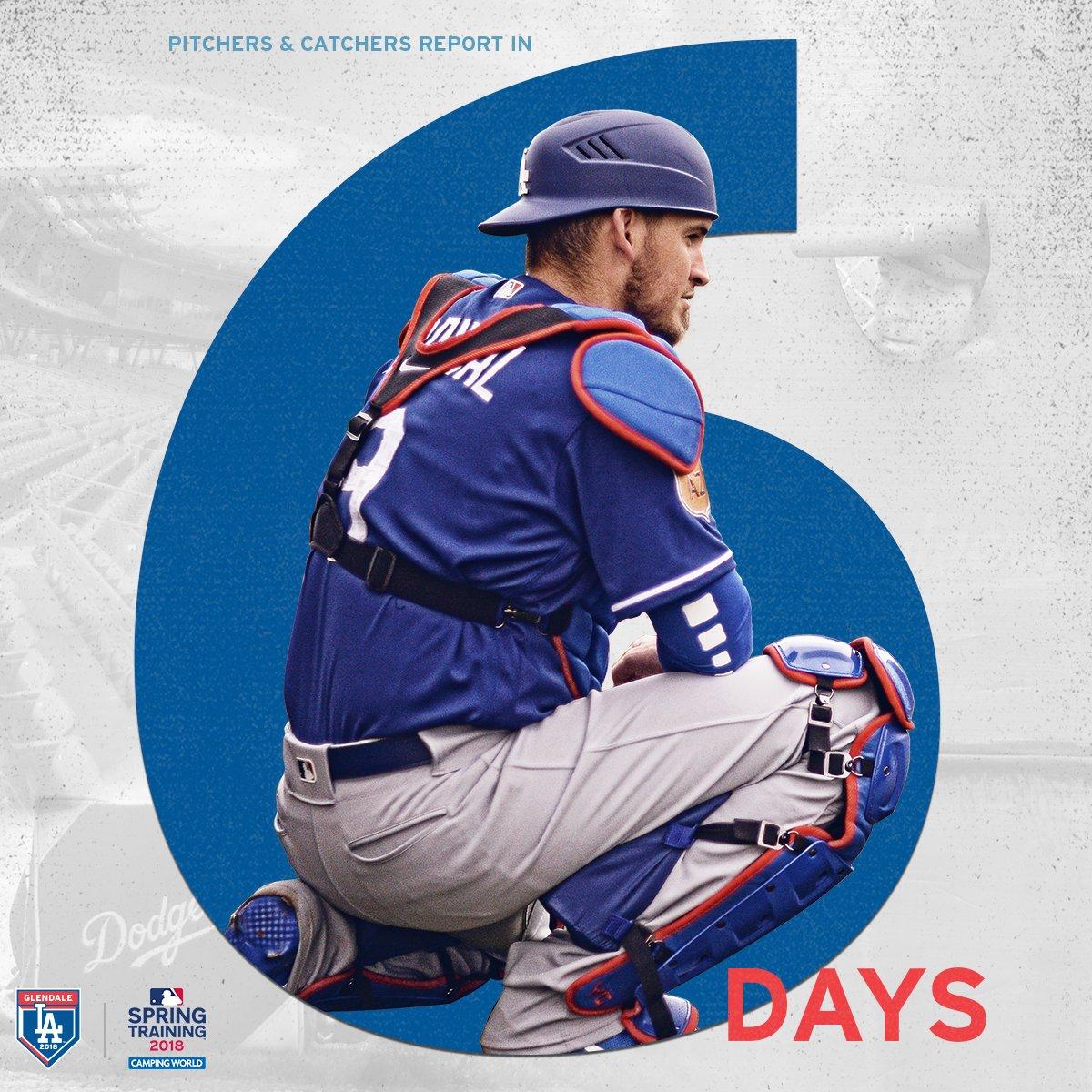 Six more days. #DodgersST