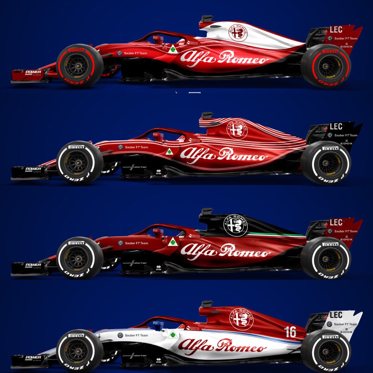 Sean Bull Design On Twitter 8 Alfa Romeo Sauberf1team Concept Liveries For Drivetribe What S Your Favourite Sauber Alfaromeo F1 Livery F12018 Leclerc Ericsson Https T Co H6ir66w4m5