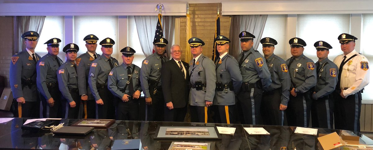 njsp state police on twitter colonel patrick callahan personally presents letters of appreciation to nj corrections officers who served in puertorico