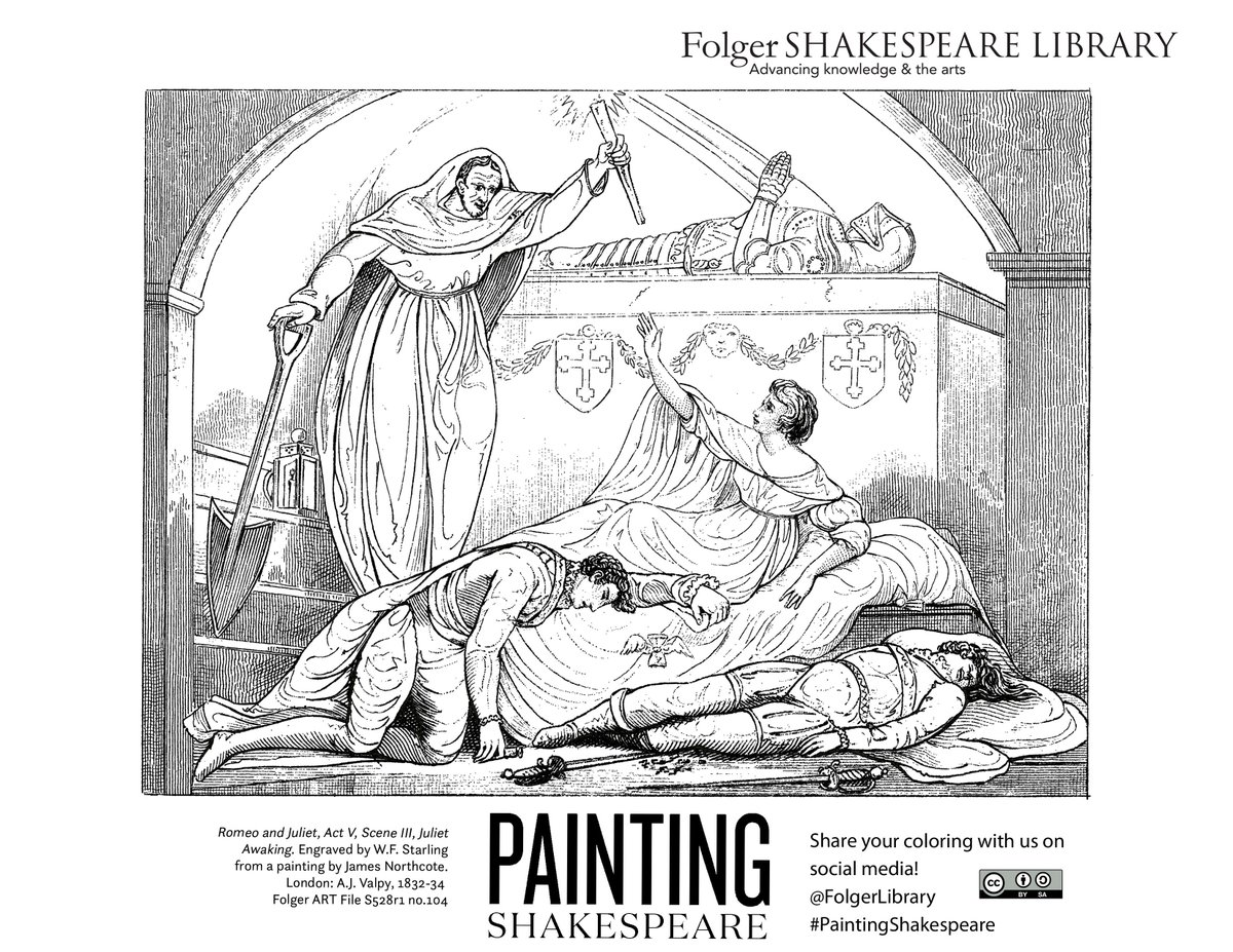 Folger Library On Twitter Its ColorourCollections Week And We Have Brand New Coloring Pages From PaintingShakespeare Visit Tco MP74xzH6Y5 To