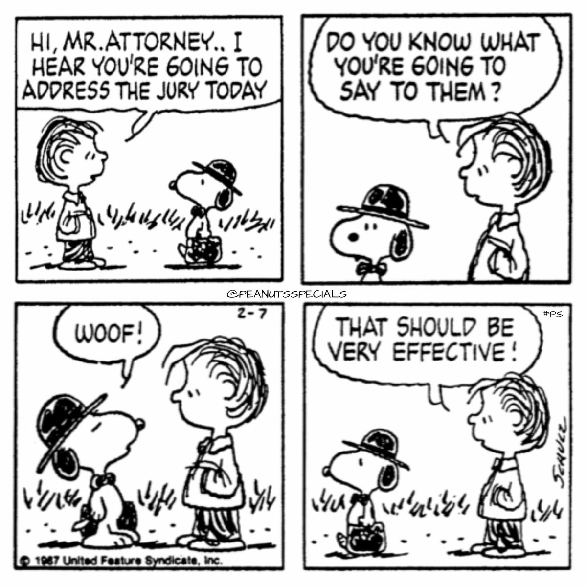 """Official Peanuts Specials on Twitter: """"First Appearance: February 7th, 1987  #peanutsspecials #ps #pnts #schulz #snoopy #linus #mr #attorney #address  #jury #woof #effective https://t.co/SBsVqfs3Jr https://t.co/hvsusnvZXe…  https://t.co/468tjk8Wrk"""""""