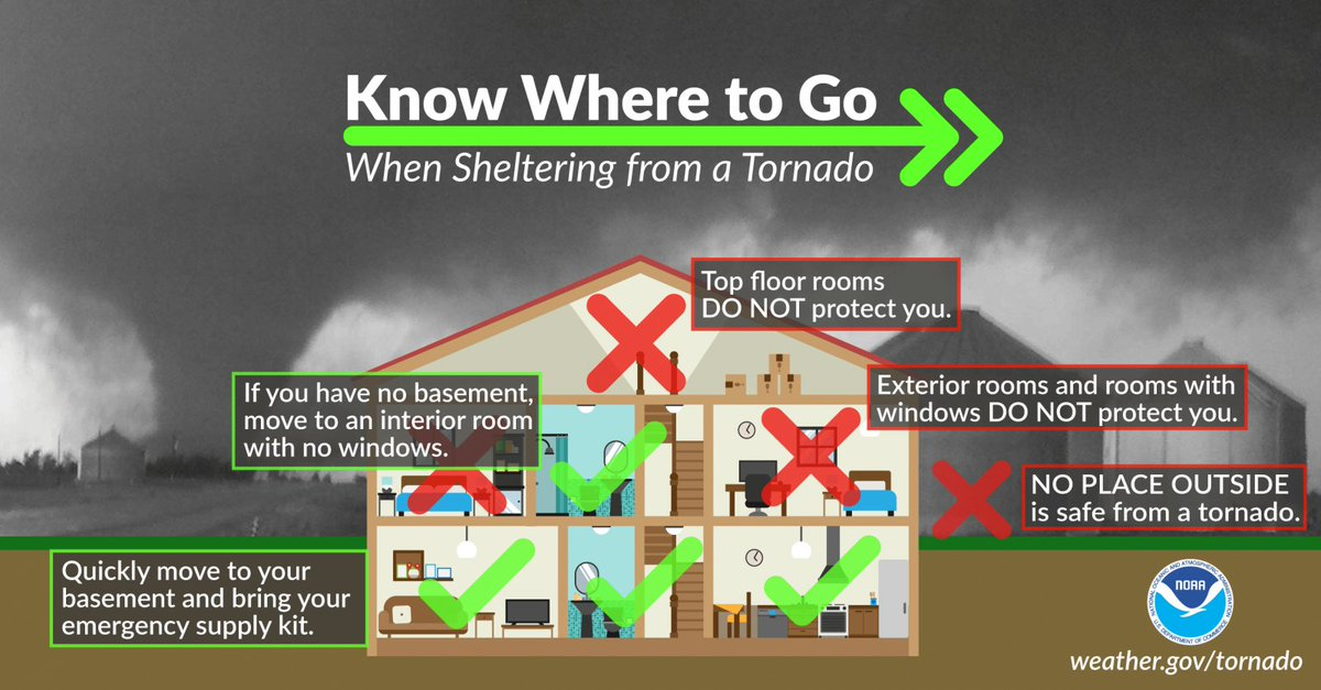 Get On The Lowest Level Possible And Do Your Best To Find A E With No Exterior Doors Or Windows Remember Mobile Homes Are Not Safe In Tornadoes