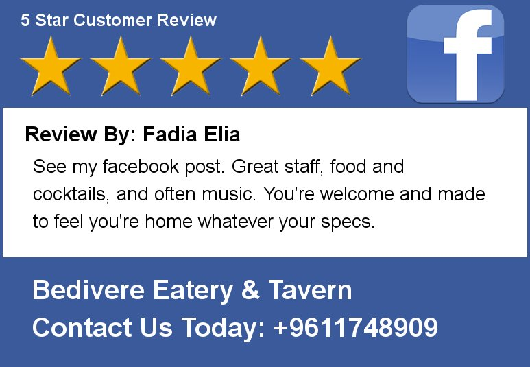Review By: Fadia Elia See my facebook post. Great staff, food and cocktails, and often music. You're welcome and mad https://t.co/yXkQQGh8Vq