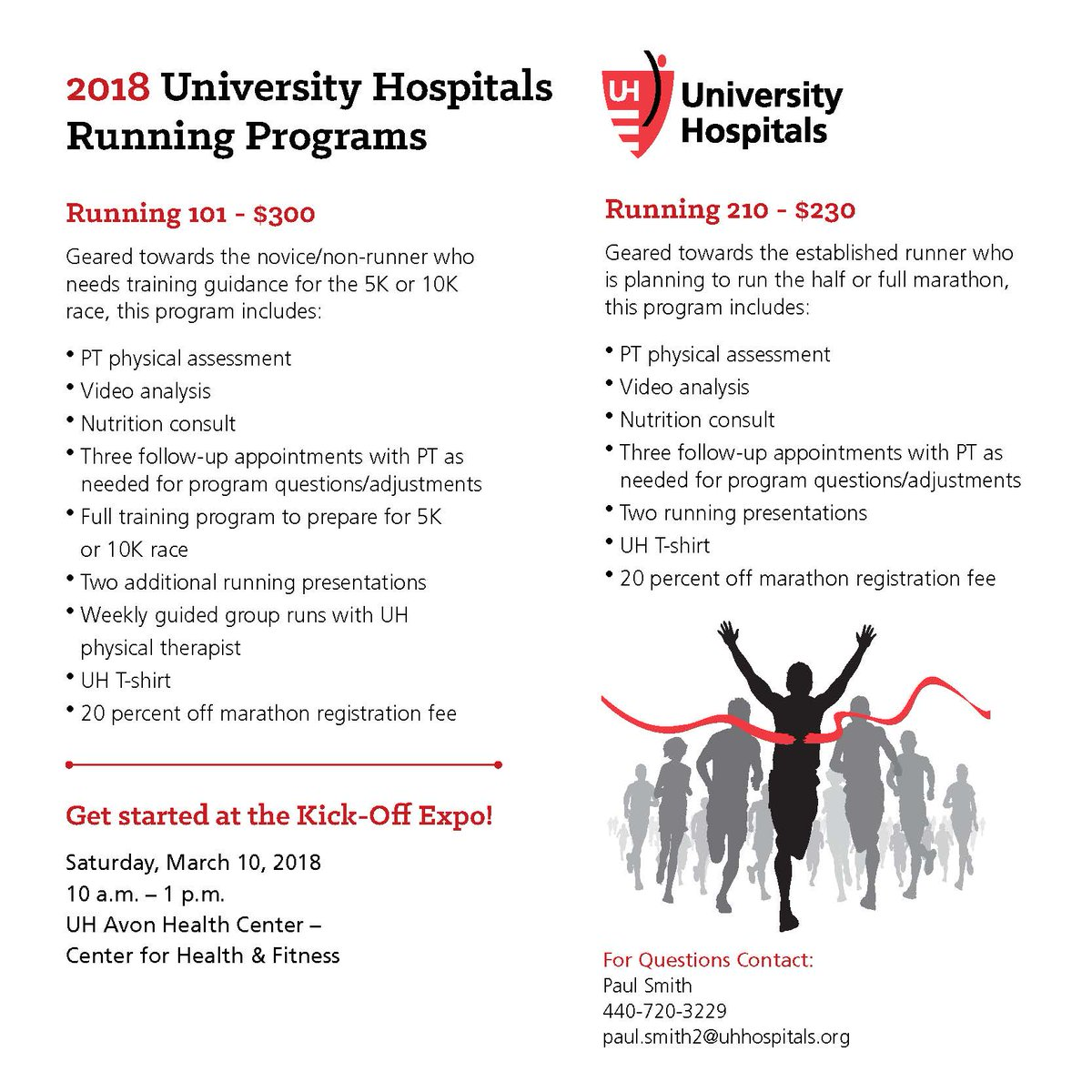 cleveland marathon on twitter introducing uhhospitals 2018 running programs whether you are training for a smaller race or gearing up for a half or full