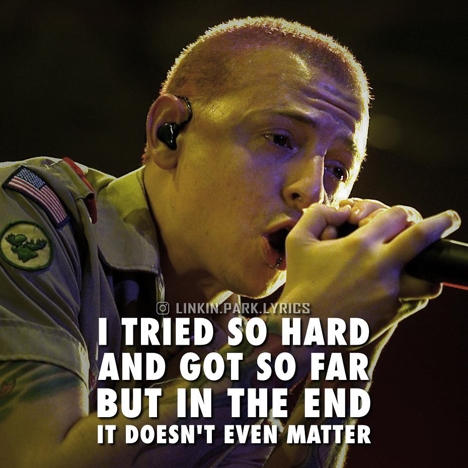 Linkin Park Quotes On Twitter In The End