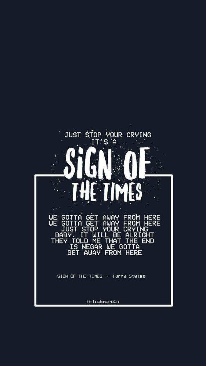 sign of the times lyrics deutsch