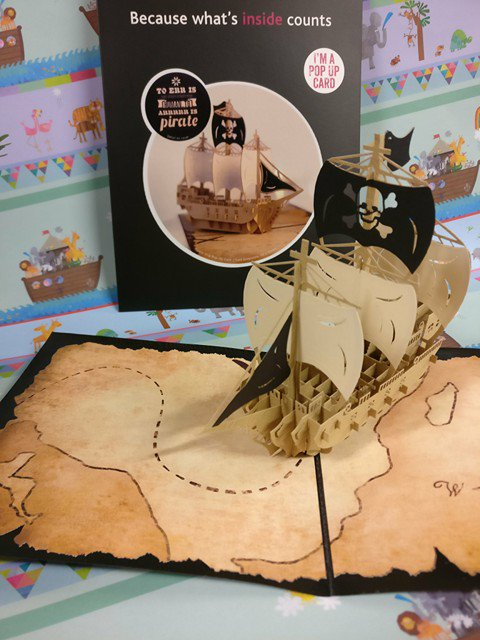 Pop into your favourite local bookshop for one of our truly amazing new pop up cards as @cardologyltd sails into #EastGrinstead Not just for #pirates