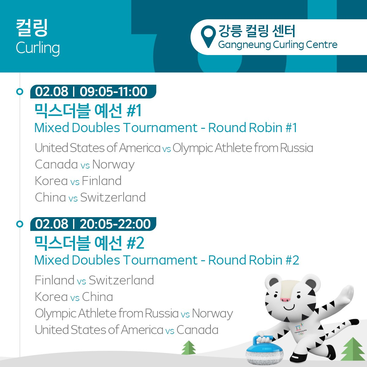 the pyeongchang 2018 olympic winter games / feb 8 competition