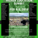 Image for the Tweet beginning: Sustainability in Higher Education Summit