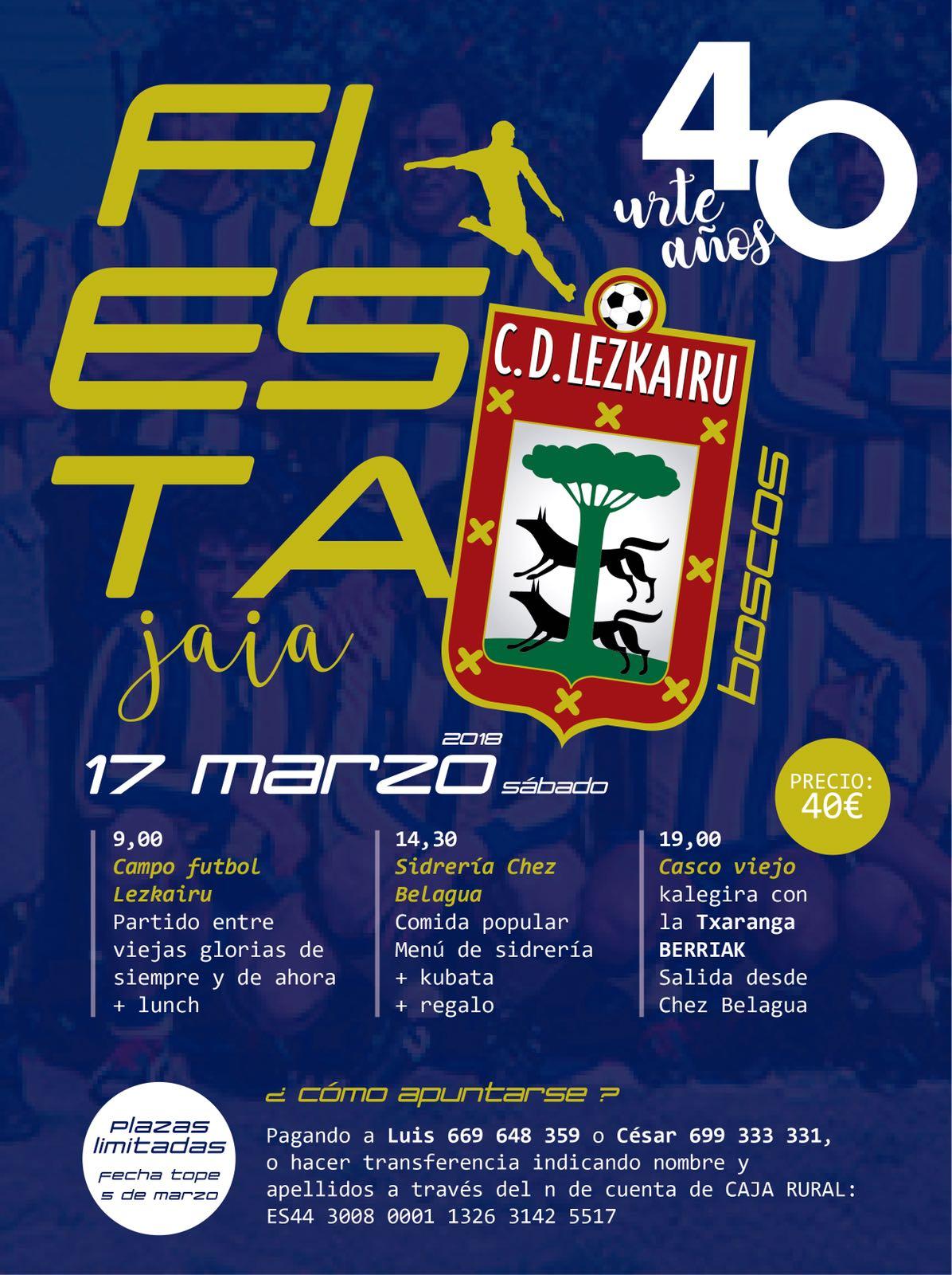 Desde La Banda - Fútbol Navarro (DLB-FN) | 40º Aniversario del Club Deportivo Lezkairu del torfeo Boscos