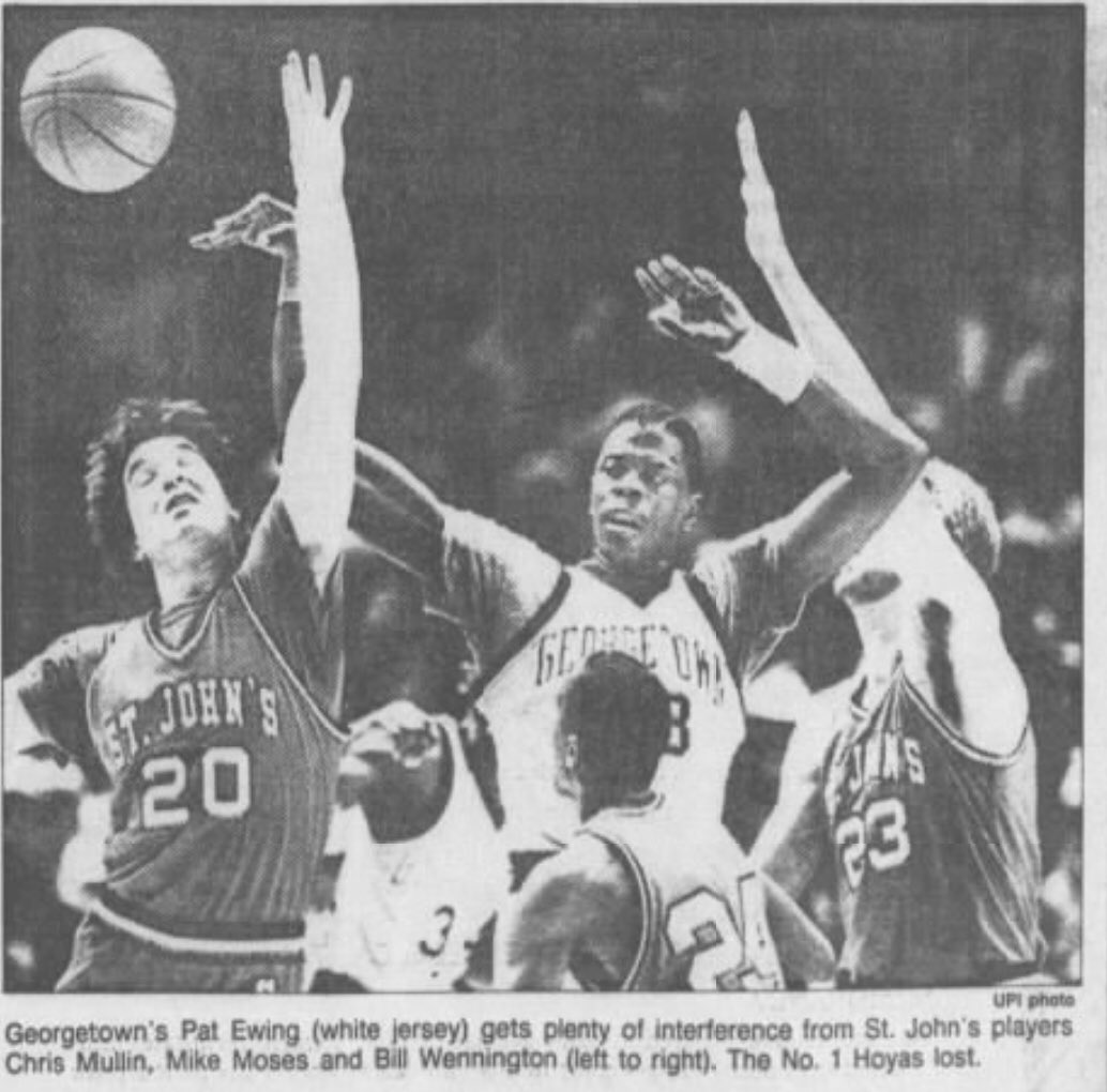 Darren Rovell On Twitter January 26 1985 Last Time St John S Beat A 1 Team Current Head Coach Chris Mullin Stole The Ball Was Fouled And Hit A Free Throw St John S