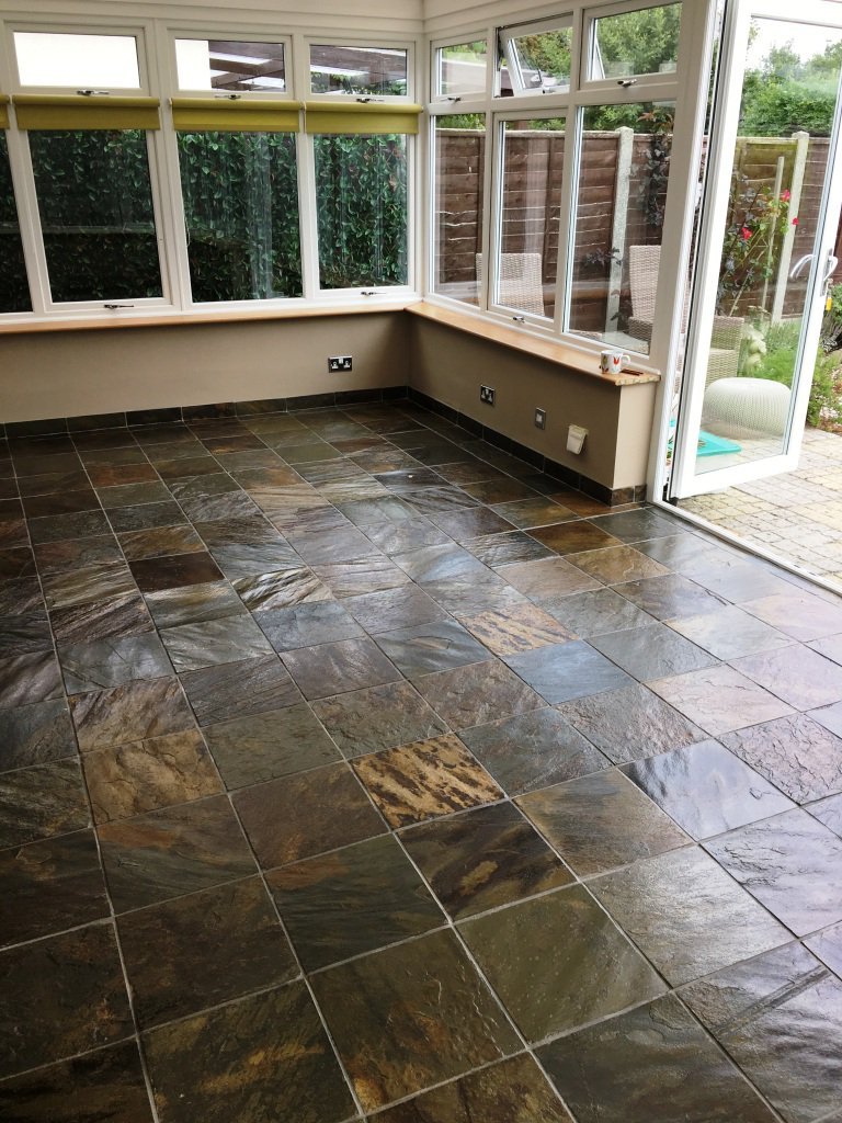 Thomas Russell On Twitter Scratched And Dirty Slate Tiles - Rejuvenate slate floor