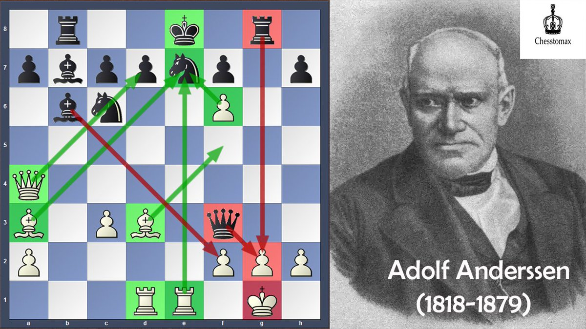 Chesstomax On Twitter Evergreen Game The Most Attacking And Beautiful Game In Chess History Played By German Attacking Genius Adolf Anderssen Against Jean Dufresne In 1852 You Can Check The Game