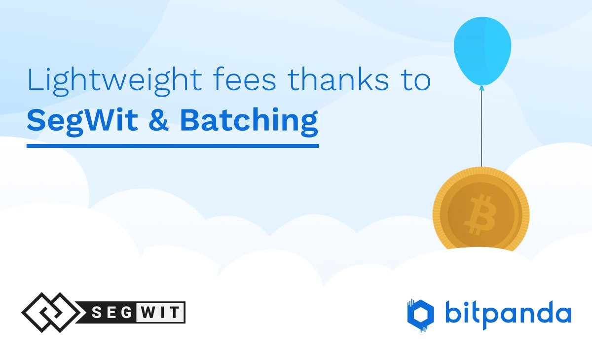 Major Bitcoin transaction fee reduction thanks to full Segwit & Batching available now at bitpanda.com More info on our blog ➡️ buff.ly/2FTRsnN