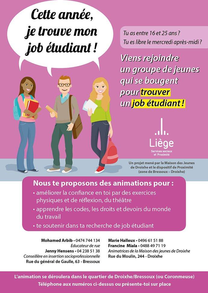 job etudiant 63