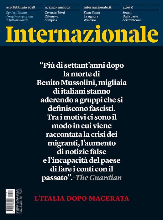 L'Italia dopo Macerata. La nuova copertina di Internazionale. https://t.co/RUNbt8oNYO