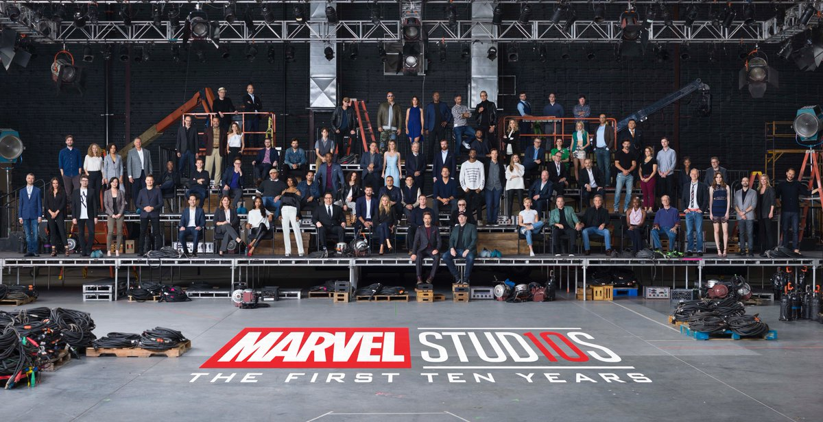 Marvel 10 Year Anniversary Class Photo! Everyone was there and it was a blast!