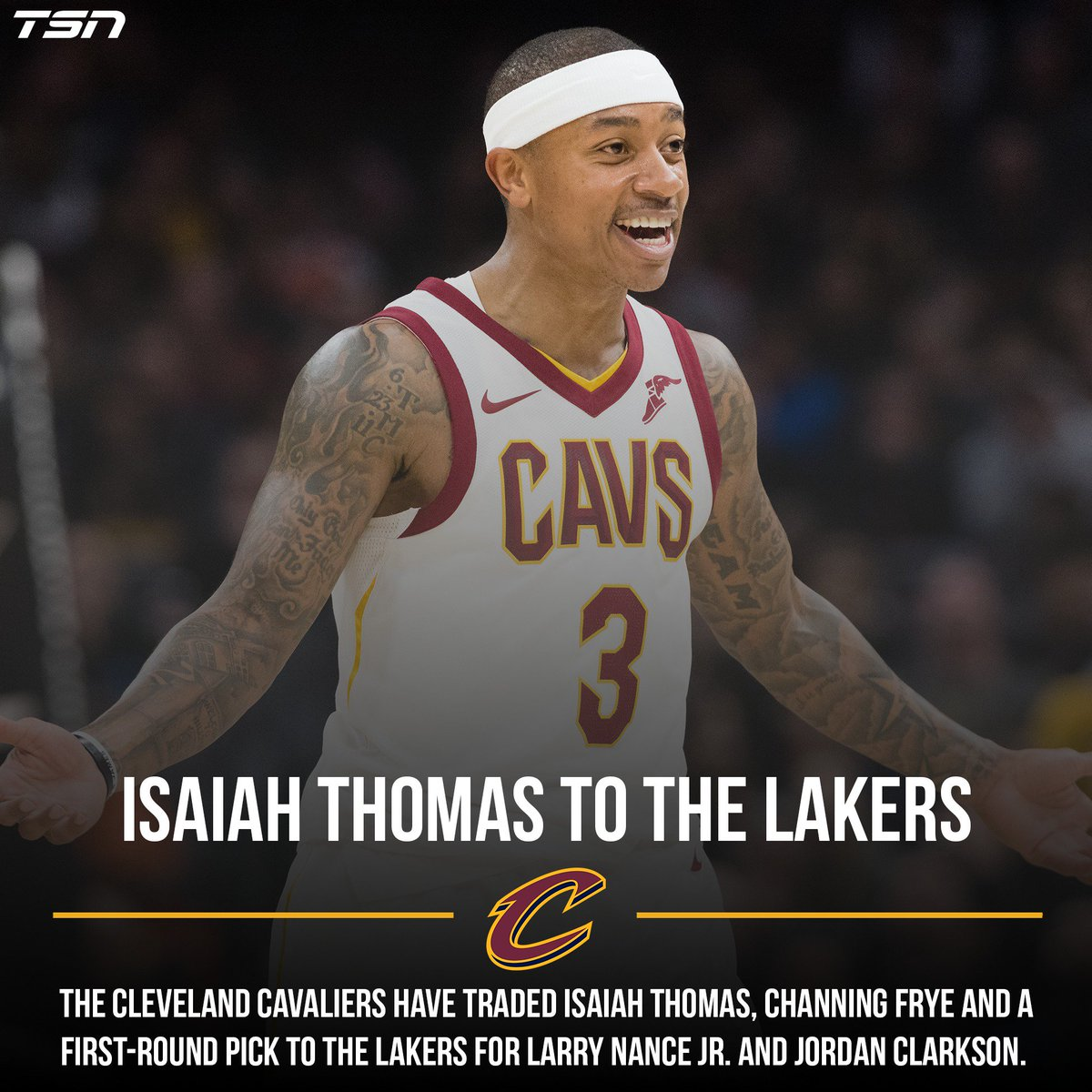 98bdbd1f98c BREAKING: The Cleveland @Cavs have traded @isaiahthomas to the @Lakers.  DETAILS