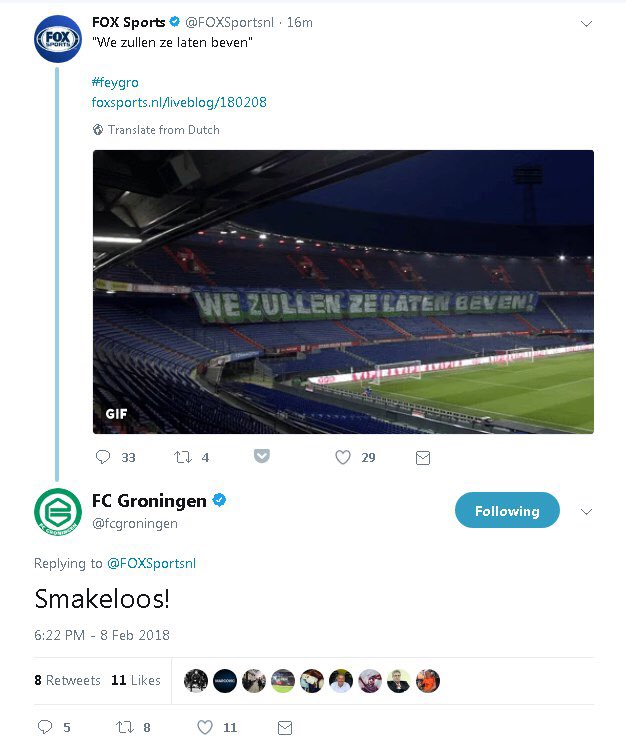 Groningen vindt spandoek smakeloos