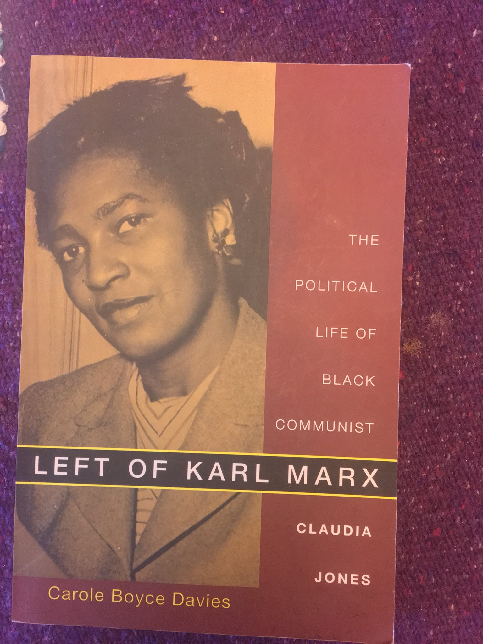 "Mona Eltahawy on Twitter: ""8. Left of Karl Marx: The Political Life of Black  Communist Claudia Jones, Carole Boyce Davies #BlackHistoryMonth… """