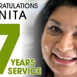 Congratulations to Anita Patel who has worked for us for 7 years today. Thank you for your dedication