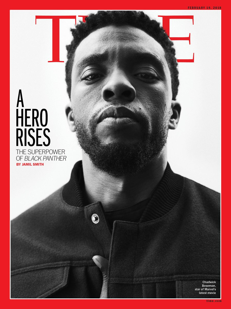 'Black Panther' is on the cover of TIME magazine and people are loving it