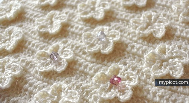 Mypicot S Tweet New Solid Crochet Flower Stitch Diagram Step