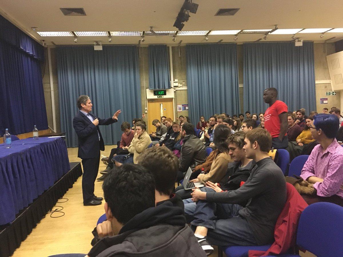 Sir Keir Starmer tells university students: We MUST abide by result of Brexit referendum https://t.co/1Pr6JUxqR5