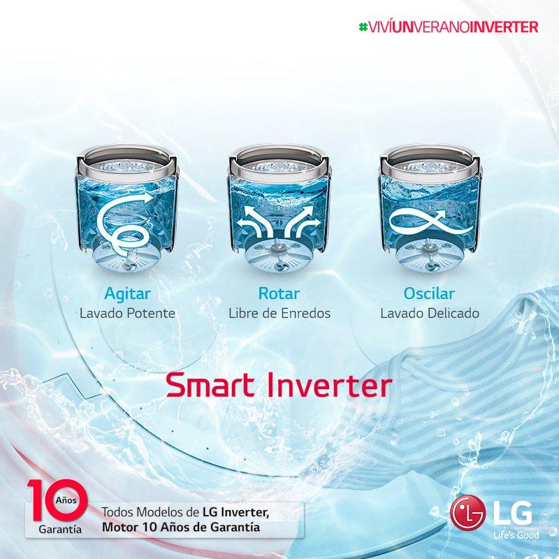 Descubrí las bondades de #SmartMotion en cada lavarropas Inverter de LG. Una mayor combinación de movimientos para el mejor cuidado de tu ropa. #VivíUnVeranoInverter 🌴 https://t.co/1XQldwrxX5
