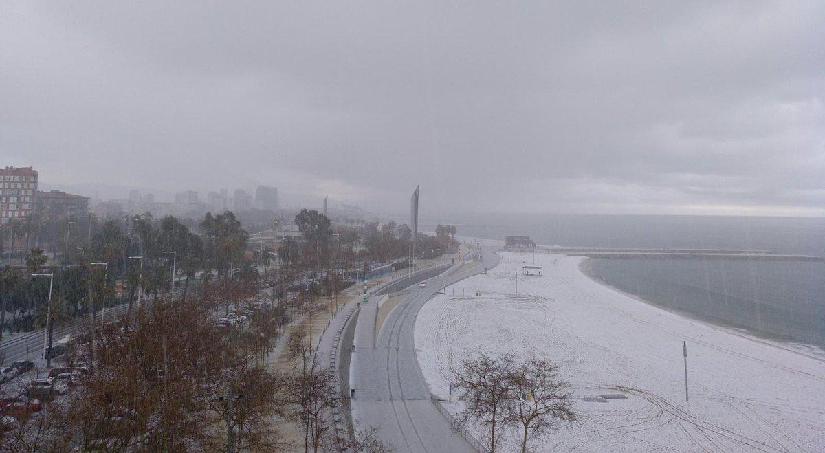 neige sur Barcelone