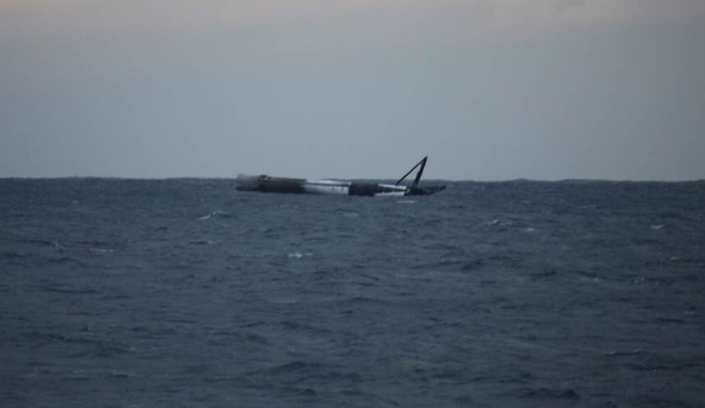 SpaceX denies report of Air Force blowing up its floating Falcon 9