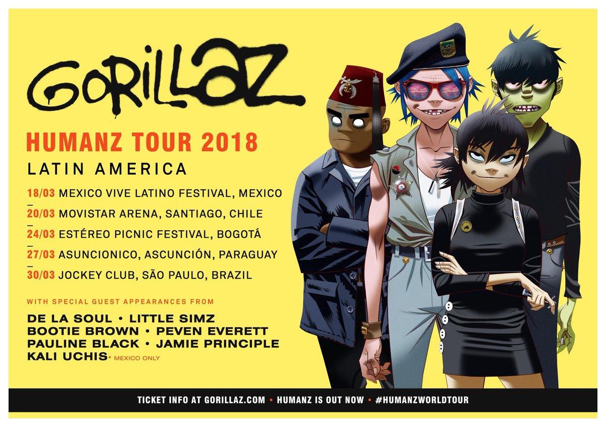 Humanz Tour Latinoamérica ¿Quién ya tien...
