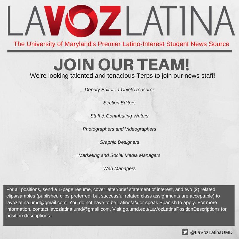 La Voz Latina (@lavozlatinaumd) | Twitter