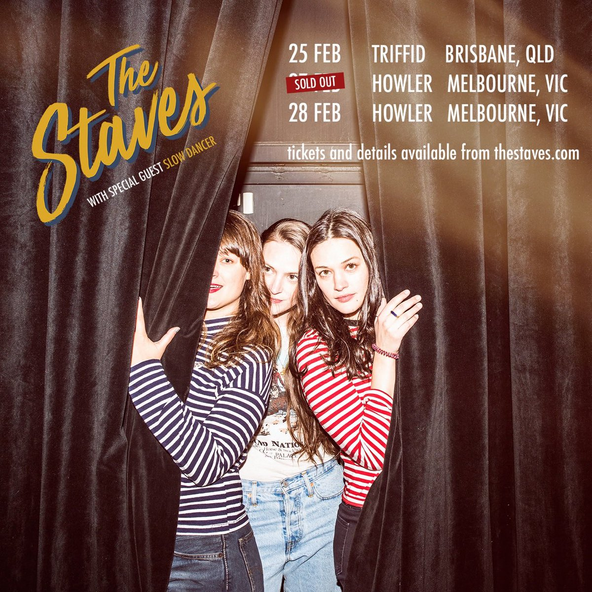 Jessica, Camilla and Emily Staveley-Taylor, aka the Staves, worked.