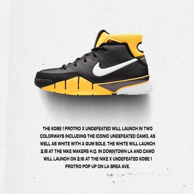 Your Chance to Own the Undefeated x Nike Zoom Kobe 1 Protro