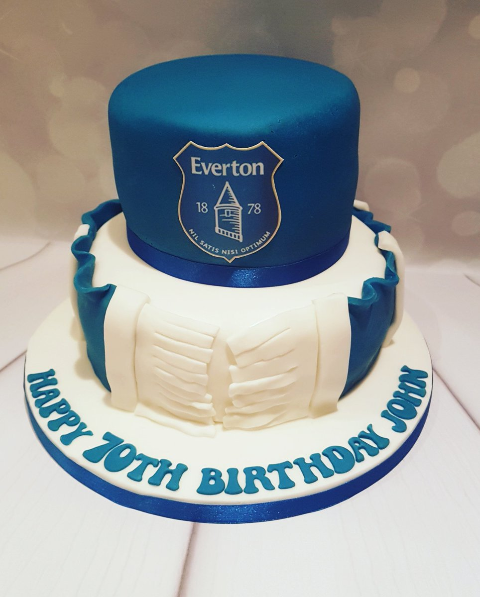 Littlemissalicecakes On Twitter Everton Themed Birthday Cake